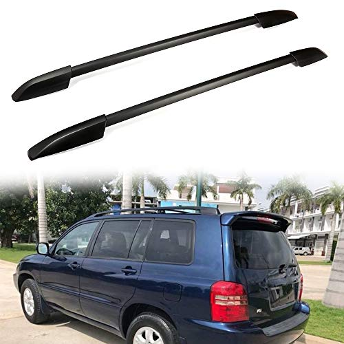 ROADFAR Roof Rack Side Rails Aluminum Top Side Rail Carries Luggage Carrier Fit for 2008-2013 for Toyota Highlander Baggage Roof Side Rail with Lock