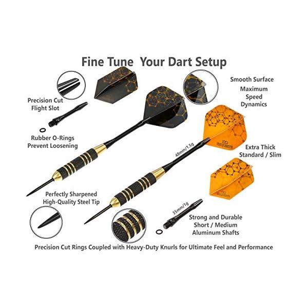 Professional Steel Tip Darts Set details