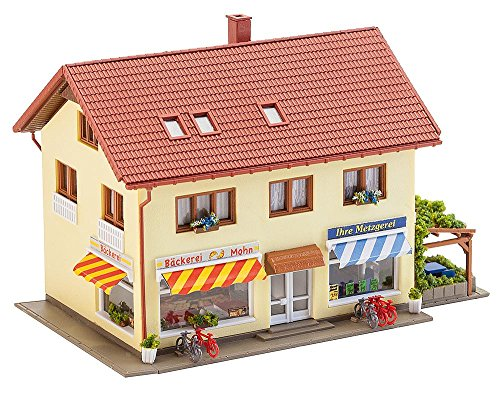 Faller FA 232336 - Metzgerei/Bäckerei, Zubehör für die Modelleisenbahn, Modellbau