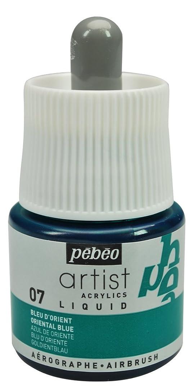 Pebeo Artist Acrylics, Liquid Acrylic Ink, 45 ml Bottle with Dropper - Oriental Blue