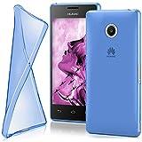 MoEx Huawei Ascend Y300 | Hülle Silikon Transparent Blau Clear Back-Cover TPU Schutzhülle Dünn Handyhülle für Huawei Y300 Case Ultra-Slim Silikonhülle Rückseite