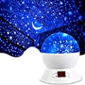 MOKOQI Star Projector Night Lights for Kids With Timer, Gifts for 1 - 14 Year Old Girl and Boy, Room Lights for Kids Glow in The Dark Stars and Moon can Make Child Sleep Peacefully and Best Gift-White