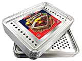 Pactogo 16' x 11' Aluminum Foil BBQ Gourmet Grill Topper Pan (Pack of 12)