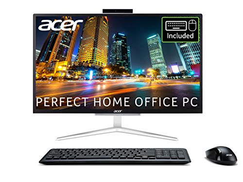 Acer Aspire C22-820 21.5 inch All-in-One PC (Intel Pentium J5040D, 8GB, 1TB HDD, Full HD Display, Wireless Keyboard and Mouse, Windows 10, Silver)