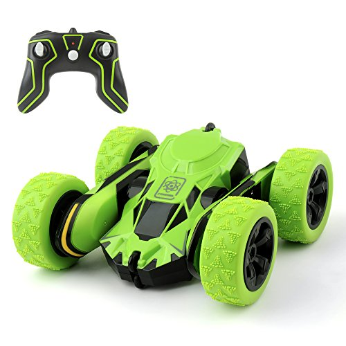 RC Car Toy, MiluoTech Remote Control Vehicles Stunt Car Double Sided Rotating Tumbling Ransformation 360 Degree Flips (Green)