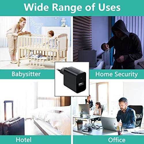Mini Kameras 32GB 1080P Tragbare Kleine Videokamera USB Mini Überwachungskamera mit Infrarot Nachtsicht/Bewegungsmelder MEHRWEG