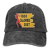 Yuantaicuifeng Dieta Baja en calorías para Adelgazar Sombrero de Vaquero Personalizado y Unisex con sombrilla Ajustable