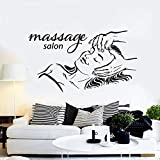 HFDHFH Cara de Mujer calcomanía de Pared SPA Belleza salón de masajes Fitness Girl Relax Time decoración de Interiores Puerta Ventana Vinilo Adhesivo Arte Mural