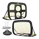 PodiuMax Kids Soccer Goal Net Portable 2 in 1 Pop up Children Football