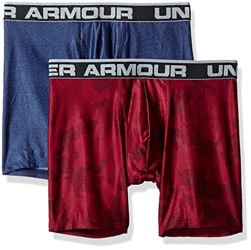Calzoncillos Under Armour de 15cm, set de 2, hombre, color Purple / Green Typhoon, tamaño 3XL