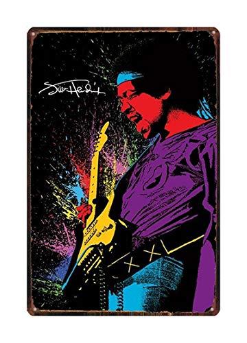 LGGROCK Rock Music Guitar Vintage Metal Cartel de chapa 20x30cm DU1716