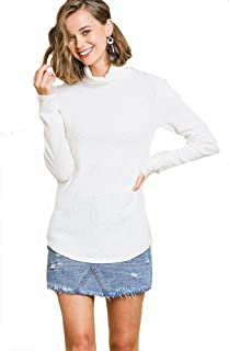 Umgee Must Have Rib Turtleneck! Long Sleeve Knit Top