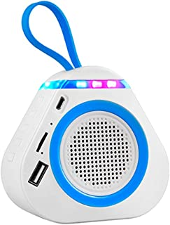 $63 » ZXQZ Speakers Wireless Bluetooth Speaker with LED Night Light, Portable Speaker, Mini Triangle Subwoofer, Support U Disk T...
