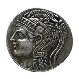 Baoblaze Regalos Antiguos De La Colección De Monedas De Plata Mitológicas De La Diosa Griega De Athena Owl