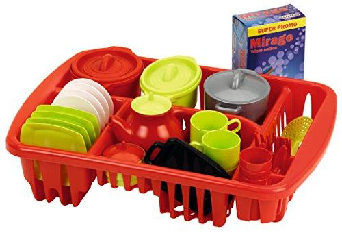 Ecoiffier- Escurridor de juguete con 44 accesorios (Smoby 1210) , color/modelo surtido