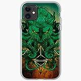 Jinfugongmao Compatible con iPhone 12/11 Pro MAX 12 Mini SE X/XS MAX XR 8 7 6 6s Plus Funda Elder Legendary Gods Literature Monsters Lovecraft Horror Animals HP Cthulhu Cajas del Teléfono Cover