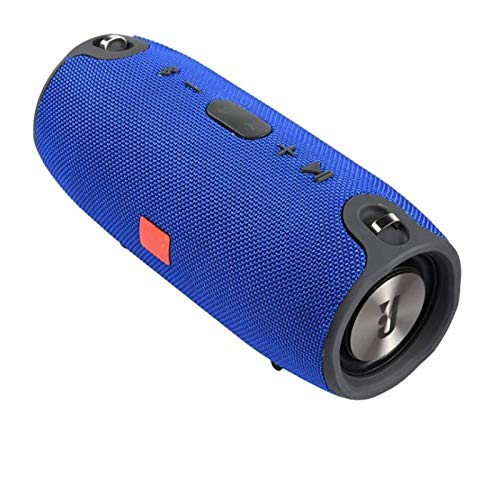 JUNPE Altavoces inalámbricos portátiles Impermeable 360 ° Sonido Envolvente Completo al Aire Libre estéreo IPX5 Impermeable para el hogar Fiesta al Aire Libre (Color : Blue)