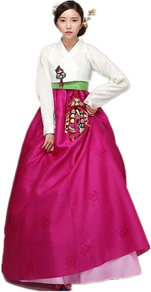 Custom Made Korean Hanbok Dress Korean Traditional Bride Wedding Hanbok Dress Korean National Costume Pink