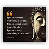 Lao Tzu Quotes-'If You Are at Peace-Living in the Present'- Inspirational Wall...