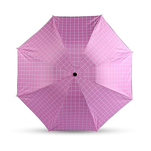 Sombrillas de celosía en blanco y negro, paraguas para mujer, paraguas plegables, paraguas de vinilo