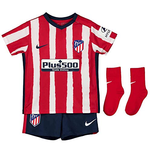 NIKE ATM I NK BRT Kit Hm Football Set, Unisex niños, Sport Red/Midnight Navy Full Sponsor, 6-9M