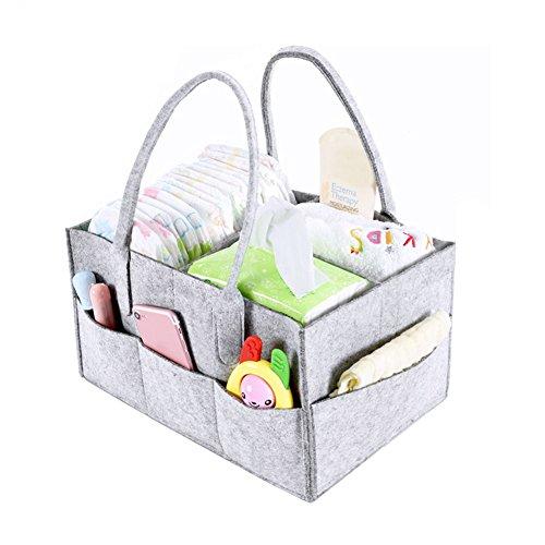 Filz Baby Windel aus Netzstoff und Spielzeug-Organizer, Geschenk zur Geburt für Junge Mädchen, tragbare Multifunktions-Farbwechsel Fächer für-Windeln für Neugeborene Kinder Spielzeug-Auto -