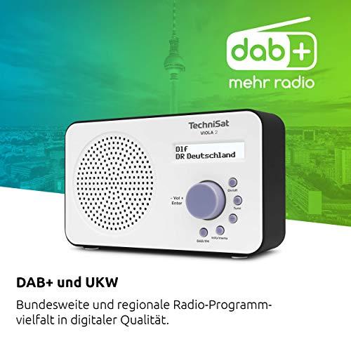Grundig DKR2000BT DAB + CD Küchenradio mit Bluetooth, DAB + Empfang und CD-Player Weiß & TechniSat Viola 2 tragbares DAB Radio, weiß/schwarz