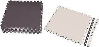 アイリスオーヤマ ジョイントマット 大判 極厚1.8cm 62×62cm 約1.5畳用 8枚組 サイドパーツ付き 洗える ブラウン / ベージュ JTMR-68