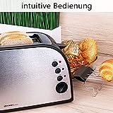 TZS First Austria – gebürsteter Edelstahl 4 Scheiben Toaster 1500W mit Krümelschublade Sandwich Langschlitz   abnehmbarer Brötchenaufsatz   wärmeisoliertes Gehäuse, stufenlose Temperatureinstellung - 6
