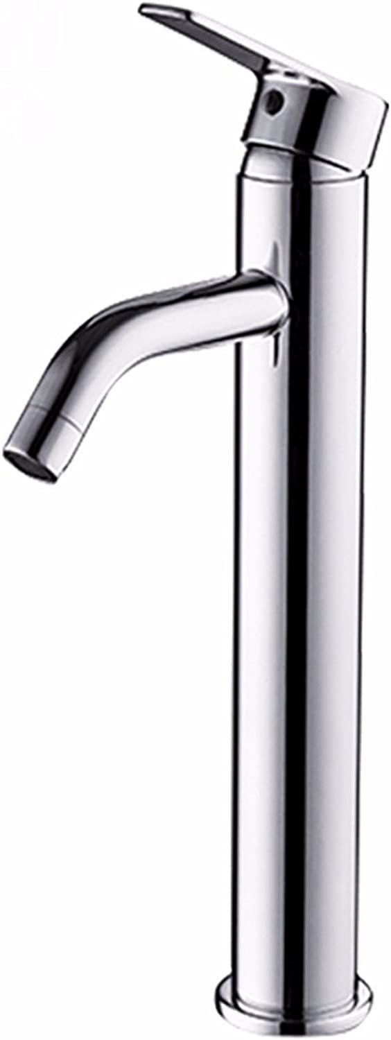 LHbox Basin Mixer Tap Bathroom Sink Faucet The copper high water faucet single handle single hole faucet hot and cold wash basins basin basin Faucet