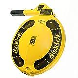 Disklok Steering Wheel Full Cover Silver Security Lock Police Approved (Yellow, Medium, 39cm - 41.5cm)