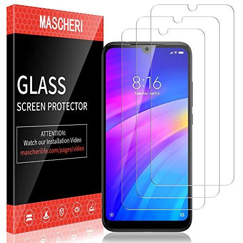 MASCHERI Protector de Pantalla para Xiaomi Redmi 7 Cristal Templado, [3 Unidades] Vidrio Templado Protector Pantalla para Redmi 7 - Transparente