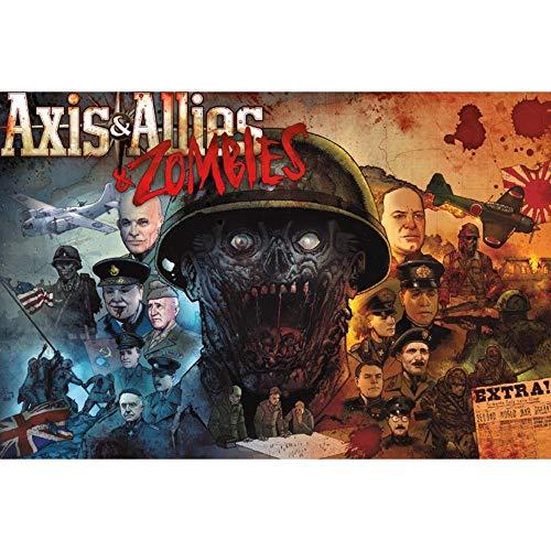 Avalon Hill / Wizards of the Coast: Axis & Allies and Zombies - Juego de Mesa, Multicolor (en inglés) (C50100000)