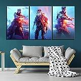 Angel&H 3 Stück Videospiele Battlefield V HD-Druck Soldat