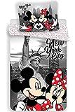Minnie et Mickey New York - Juego de cama infantil