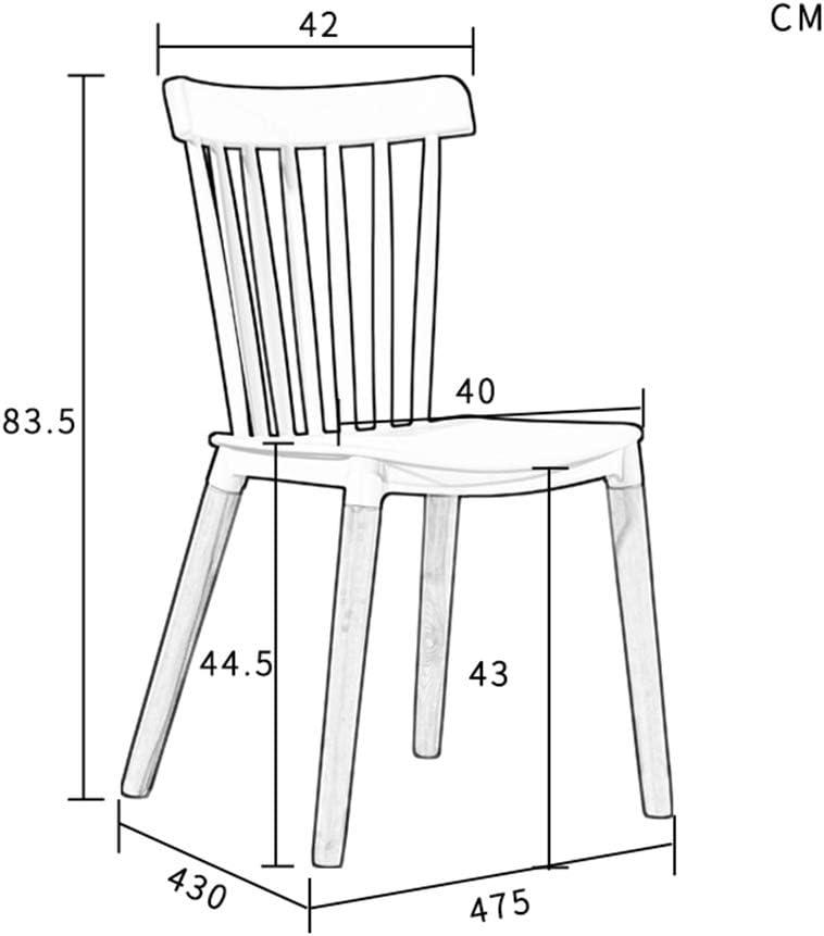 Family History Chaise De Dossier, Creative Bar Salon Chaise en Bois Massif Salon Balcon Chaise De Détente Étude Chaise De Lecture 47,5 * 43 * 83.5 CM,White Black