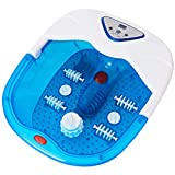 Foot Spa/Bath Massager, Heated Foot Spa Machine w/Oxygen Bubbles, Massage Rollers, Shiatsu Massage Ball, Foot Massager w/Adjustable Temperature, LCD Screen, Red Light for Home Stressed Feet Fatigue