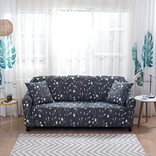 Best Lamberia Printed Sofa Cover Stretch Couch Cover Sofa Slipcovers for 4 Cushion Couch with Two Free Pi