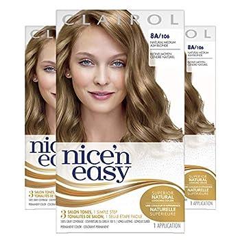 Clairol Nice n Easy Permanent Hair Dye 8A Medium Ash Blonde Hair Color 3 Count