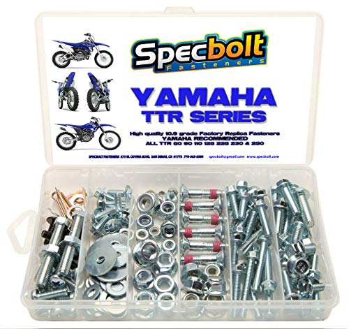 150pc Specbolt Yamaha TTR Bolt Kit for Maintenance Restoration OEM Spec Fasteners TTR50 TTR80 TTR90 TTR110 TTR125 TTR225 TTR250 TTR600 50 80 90 110 125 225 250 600 XT PW
