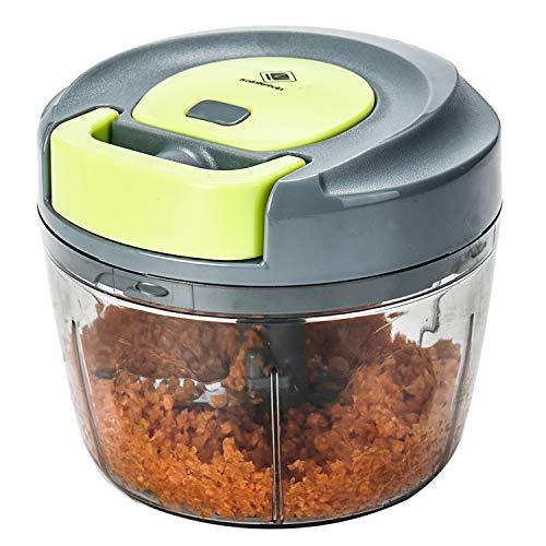 Kalokelvin Nahrungsmittelzerhacker Manueller Chopper zum Hacken von Obst, Fleisch, Nüssen, Kräutern, Zwiebeln, Gemüse Mixer Processor (750ML) …