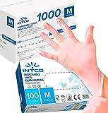 1000 guantes de vinilo desechables, sin polvo, sin látex, hipoalergénicos,...