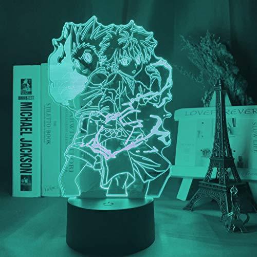 3D Night Light Illusion lamp Hunter Anime Led Killua Zoldyck Figure 7 Color Changing USB Battery Table KATA