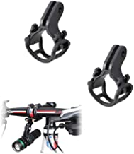 Kbrotech Bicycle Light Torch Flashlight Holder Clip Mount Bracket for Road Bike Cycling Part Adjusted Compatible with Gopro Camera Mount Holder Adapter(2PCS)