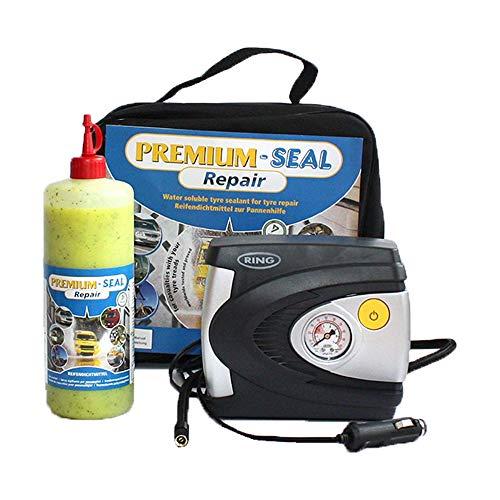 Reifenpannenset Repair von Premium-Seal 700ml, Reifendichtmittel für PKW Reifen bis 3 bar, Auto Pannenset Reifenreparatur