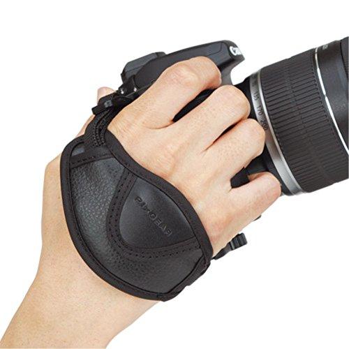 HAKUBAカメラグリップピクスギアカメラグリップストラップ一眼レフ用ブラックKGP-04
