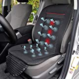 BDK SC-04X CoolFlow Cooling Car Seat Cushion with Built-in Fan Circulation for Maximum Breathable Refreshing Air Flow & Vibrating Massage