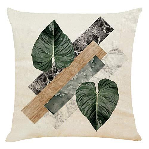 AC1 Funda de cojín de lino y algodón, diseño de árbol de la vida de flores