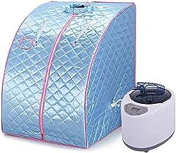 Draagbare Sauna, Huishoudelijke Vouwen Sauna Doos, Draagbare Sauna, Draagbare Eenpersoons Spa-machine (Blauw)