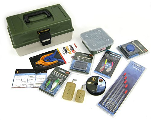 Coarse Fishing Tackle Box Gift Set - Includes Hooks, Floats, Weights,...